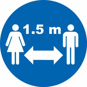 Abstandspflicht 1,50 Meter